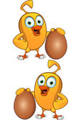 Cartoon Chick Character — Stock Vector