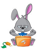 мультфильм кролик — Cтоковый вектор