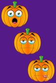 Pumpkin Face Set 1 — Stock Vector