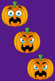 Pumpkin Face Set 4 — Stock Vector