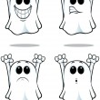 Cartoon Ghosts - Set 2 — Stock Vector