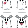 Cartoon Ghosts - Set 1 — Stock Vector