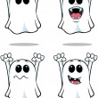 Cartoon Ghosts - Set 3 — Stock Vector
