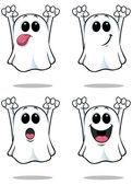 Cartoon Ghosts - Set 1 — Stock Vector