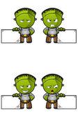 Green Halloween Monster — Stock Vector