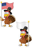 Thanksgiving Turkey Character — Stock Vector