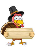 Thanksgiving Turkey Character — Stock Vector
