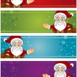 4 Christmas Banners — Stock Vector