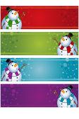 4 Christmas Banners — Stock Vector