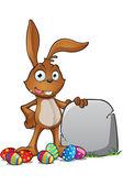 Brown Easter Rabbit — Stock Vector