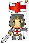 St George Cartoon Knight — Stock Vector