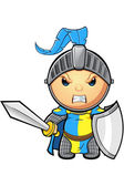 Blue and Yellow Knight Character — Stock Vector