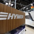 Emblem of Hymer recreational vehicles — Stock Photo