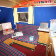Stock Photo: Interior of old Dethleffs Camper mobile home
