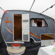 Stock Photo: Fendt Campy mobile home with awning