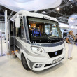 Modern lightweight Knaus Camper van - Stock Photo
