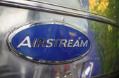 Emblem of an old Airstream caravan — Stock Photo