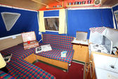 Interior of the old Dethleffs Camper mobile home — Stock Photo