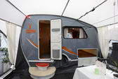 Fendt Campy mobile home with awning — Stock Photo