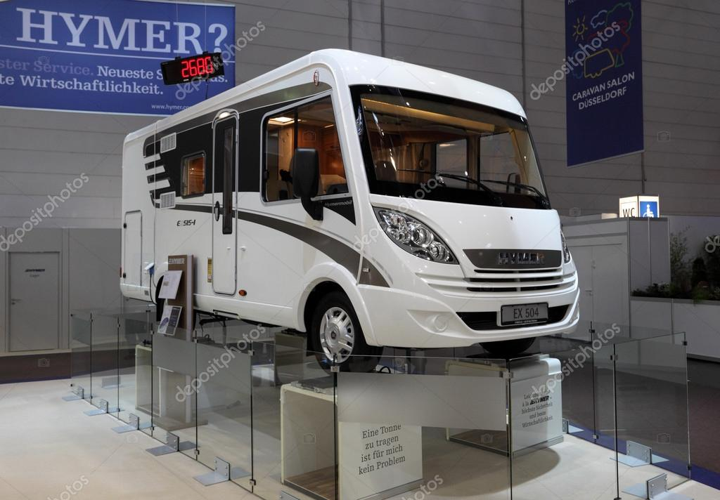 DUESSELDORF - AUGUST 27: Lightweight Hymer EX 504 Recreational Vehicle at the Caravan Salon Exhibition 2012 on August 27, 2012 in Dusseldorf, Germany — Stock Photo #12433228