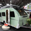 Stock Photo: Dethleffs Tourist mobile home with elevating roof