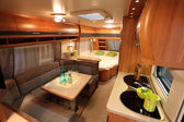 Interior of a modern camper van — Stock Photo