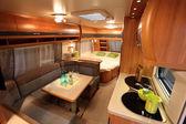 Interior of a modern camper van — Stock Photo