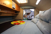 Interior of a small camper van — Stock Photo