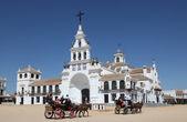 The Hermitage of El Rocio. Province of Huelva, Andalusia, Spain — Stock Photo
