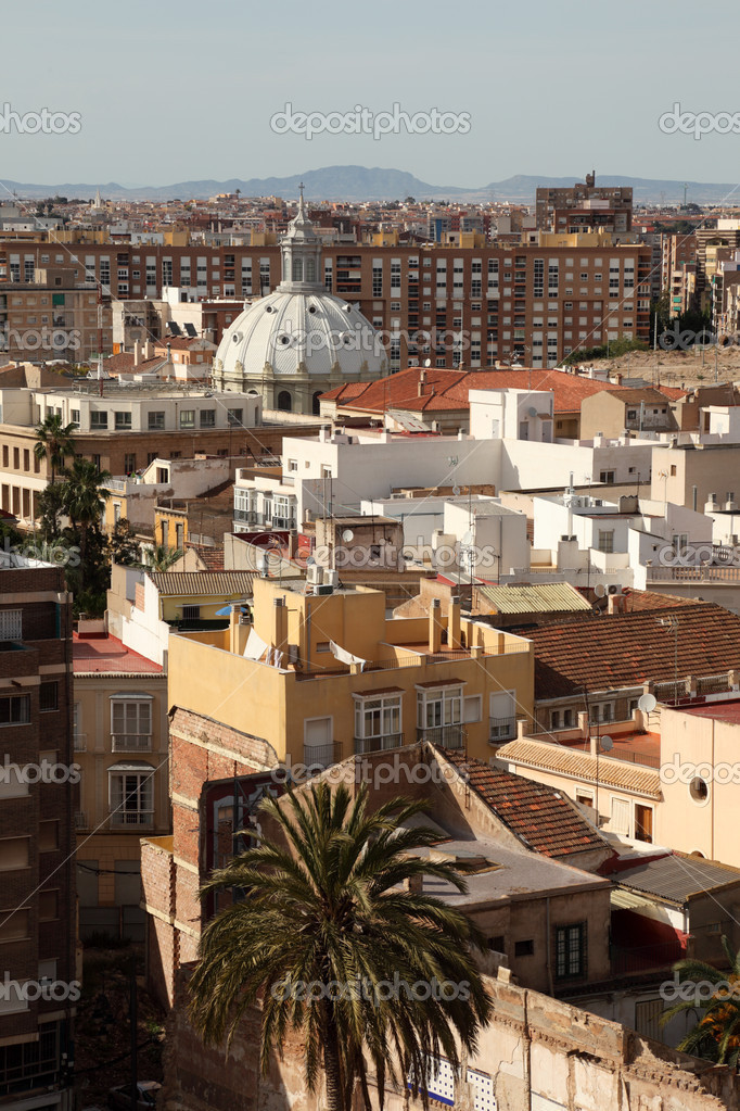 View over the city of Cartagena, Spain — Stock Photo #12629235