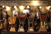 Traditional Arabian coal censer for sale in Souq Waqif, Doha Qatar — Stock Photo