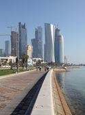 Doha, katar, ortadoğu'daki corniche — Stok fotoğraf