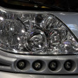Modern headlight of a camper van — Stock Photo
