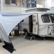 Stock Photo: Hymer Touring mobile home with elevating roof