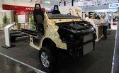 Iveco ciężarówki podwozie dla furgonetek kempingowych — Zdjęcie stockowe