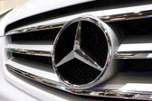 Mercedes Benz logo — Stock Photo