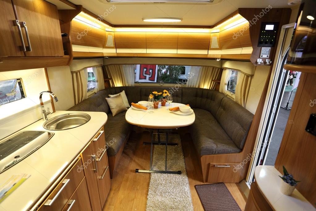 Interior Of A Modern Camper Van Stock Editorial Photo