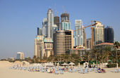 Beach at Dubai Jumeirah Resort, UAE — Stock Photo