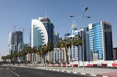 Doha downtown. Qatar, Middle East — Stock Photo