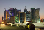 ドーハのダウンタウンに建設現場。カタール、中東 — ストック写真
