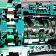 Modern Hybrid Automatic Transmission for Trucks - ストック写真