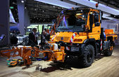 Mercedes Benz Unimog Road Cleaning Truck — Stock Photo