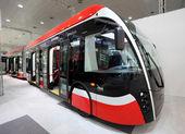 New Vanhool Electric Exquil.City Bus — Stock Photo