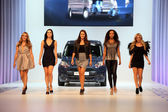 Ford Transit Van presentation with a fashion show — Stock Photo