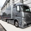 New Mercedes Benz Aerodynamics Truck — Stock Photo