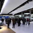 Visitors at the International Motor Show — Stock Photo