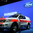 Stock Photo: New Ford Ranger life-guard pickup