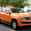 New Volkswagen Amarok Highway Construction — Stock Photo