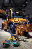 New Mercedes Benz Unimog Road Cleaning Truck — Stock Photo