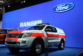 New Ford Ranger life-guard pickup — Stock Photo